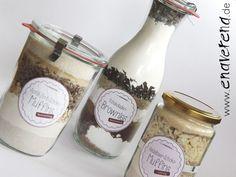 Muffins und Brownies: Backmischungen im Glas