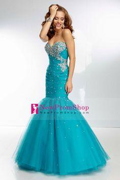 Fashion Mermaid Floor Length Prom Dresses Ruffled Bodice
