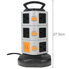 Amazon.com: HAWEEL® 3 Layers with 11 US Outlets and 2 Ports 2.1A USB Smart Power Sockets, Overload Protector, US Plug, (Black + Grey): Cell Phones & Accessories