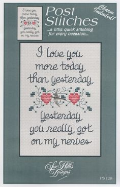 I Love You More … by Sue Hillis Designs