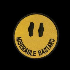 Repost @night.thrive  Miserable Bastard 3X3 Embroidered Patch. For the Miserable Bastards of the world. Perfect to rock at the family function so the relatives get the message and just as good for the streets. FREE US SHIPPING    (Posted by https://bbllowwnn.com/) Tap the photo for purchase info.  Follow @bbllowwnn on Instagram for the best pins & patches!