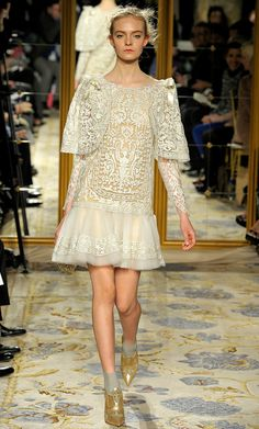 Marchesa fall 2012... I'd wear this to a fall gala surrounded by aspens and pine trees