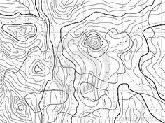 abstract topographic map. vector stock photo