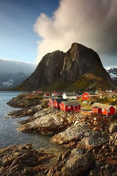 I love Norway. This is Kabelvag Village in Lofoten Island Archipelago, Norway Places Around The World, Oh The Places You'll Go, Places To Travel, Places To Visit, Around The Worlds, Wonderful Places, Beautiful Places, Amazing Places, Lofoten Islands Norway