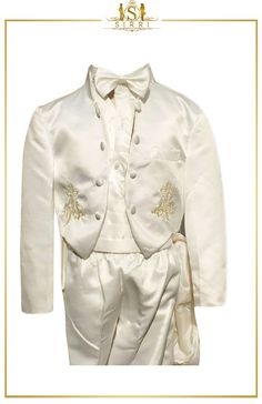 Baby Boys 6 Piece ivory Christening Suit Baptism Outfit 0 to 24 Months. Shop now at SIRRI kids #suits for boys for #wedding #communion online...Elegant fashion for children and men. #fashion #shopping