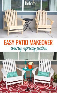 This patio makeover
