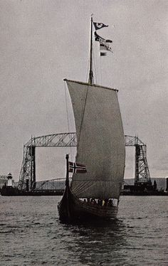 History-Now ~ old sailboat, old Duluth, MN