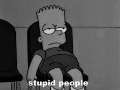 Shared by The Simpsons. Find images and videos about black and white, sad and mood on We Heart It - the app to get lost in what you love. Simpson Wallpaper Iphone, Cartoon Wallpaper, Iphone Wallpaper, Cartoon Memes, Cartoon Pics, Cartoons, Simpsons Art, The Simpsons Tumblr, Simpsons Cartoon
