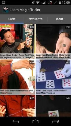 Learn Magic Tricks is a free application with lots of Magic Tricks videos to help you understand the secret behind magic tricks and learn to do it yourself and be a small magician of street magic shows or small occasions.<p>Disclaimer: Learn Magic Tricks Videos are fetched from publically available videos in YouTube. Copyright for the videos belongs to the uploaders of respective videos or to the original creators.  http://Mobogenie.com #streetmagictricks