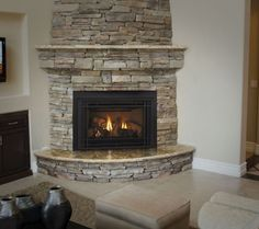 Are you lucky enough to have a living room with fireplace? A fireplace is an architectural structure designed to contain a fire. The idea of a corner fireplace living room is amazing. Farmhouse Fireplace, Home Fireplace, Fireplace Remodel, Living Room With Fireplace, Fireplace Design, Fireplace Mantels, Fireplace Ideas, Fireplace Pictures, Fireplace Fronts