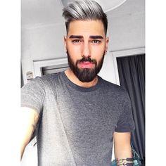 Ich bin gerade am überlegen, ob ich wieder ins Schwimmbad gehe oder mal low mache und mich in die letzten Sonnenstrahlen für heute setze 🤔 Und wie verbringt ihr euren Feierabend? Kisses&Hugs 😘#afterwork #chillin #pompadour #Black #white #love #silver #haircut #fashion #peace #eyes #selfie #instadaily #potd #instagay #instaselfie #hipster #friends #ootd #bearded #gay #f4f #granny #snapchat  #tattoo #gayboy #hairstyle #whitehair #style #beard