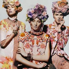 what an exquisite June/July issue Harper's BAZAAR Australia we love our Grandiflora blooms styled atop the gorgeous girls, all head to toe in talented Australian designer duo Romance Was Born Styled by Caterina Scarfino, Hair Alan White, Photography Georges Antoni www.grandiflora.net