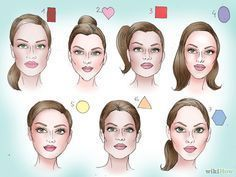 Face Shapes and Hairstyles - New Face Shapes and Hairstyles , How to Figure Out Your Face Shape In 4 Steps Diamond Face Shapes Long Face Shapes, Long Faces, Oval Faces, Square Faces, Head Shapes, Hairstyle Names, Face Shape Hairstyles, Cool Hairstyles, Heart Shaped Face Hairstyles