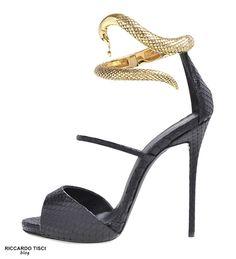 Giuseppe Zanotti Nirvana Sandals gold Metal Snake Spring Summer 2014 €1,250 #Shoes #High #Heels