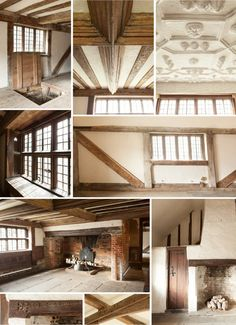 Through the Tudor keyhole - Alastair Hendy's incredible Tudor home in Hastings. That ceiling! Those windows. Sigh.