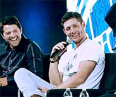 A little Jensen and Misha laughter to make your day better :) #NerdHQ14