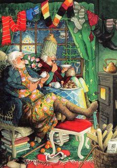 Groothandel Postkaarten van Inge Look number 40 Old Lady Humor, Whimsical Art, Old Women, Getting Old, Illustrators, Cool Art, Illustration Art, Old Things, Drawings