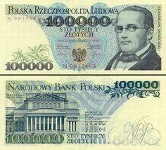 Banknoty polskie - zestawienie banknotów od 1990 roku