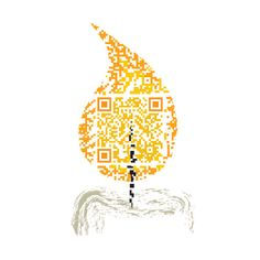 Artistic QR Code embeded in a candle flame