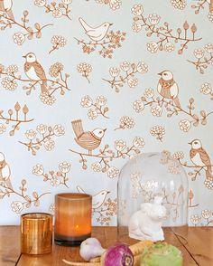 Majvillan Sugar Tree Wallpaper - Unique designer wallpaper and murals online now - a leading Australian wallcovering boutique Wallpaper Stores, Kids Room Wallpaper, Kitchen Wallpaper, Tree Wallpaper, Wallpaper Online, Custom Wallpaper, Designer Wallpaper, Wallpaper Murals, Blue White Background