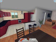3D apartment walkthrough. Interior Decorating, Interior Design, Room Planning, New House Plans, Corner Desk, New Homes, House Design, How To Plan, Architecture