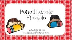 Pencil Labels for the Classroom from Teaching in Room 5 on TeachersNotebook.com -  (1 page)  - No more sharpening of pencils during the day.  Simply have students exchange their broken pencil for a nice sharp one. At the end of the day have a student sharpen all the broken pencils.