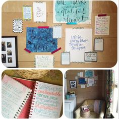 "I spent the last hours of 2015 considering my Philippians 4:8's and jotting them down in my ""Dwell on these things"" journal (part of my nightly routine) reading scripture and writing down verses I am praying over myself and my family (which I taped to my prayer corner wall) and sharing my thoughts in my prayer journal. I have come to the conclusion that there is no better way to close out a year than in praise prayer and petition! One of my desires for this year is to create a prayer corner…"