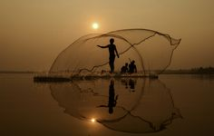 Fisherman Thailand by Nattaya Maneekhot