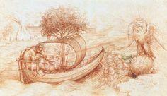 Allegory with wolf and eagle - Leonardo da Vinci