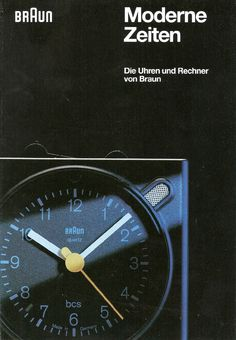 Modern Times - a Braun promotional booklet advertising their clock and calculator ranges, dated November 1993.