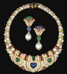 images of cabachon sapphire parure | -shaped cabochon sapphire flanked by two similarly-shaped cabochon ...