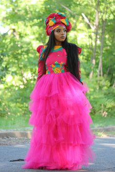 African Wedding Attire, African Attire, African Outfits, African Weddings, African Clothes, Traditional Wedding Attire, African Traditional Wedding, Tsonga Traditional Dresses, Xhosa Attire