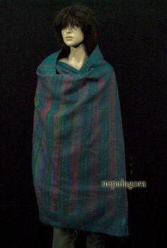 Sw3-Hand-loom-soft-yak-wool-Winter-wrap-stole-reversible-shawl-scarf-Throw-Nepal
