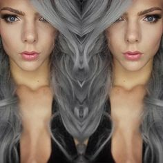 #weirdhairstyles Inspiration -  Long #HairStyles #gothhairstyles with #growme shampoo #halloween #halloweenhair #halloweenhairstyles