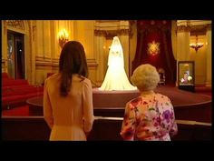 """Queen and Duchess view Royal wedding dress - I love how the queen said """"i don't approve of this"""" within the first 10 seconds #totalqueenmove"""