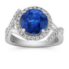 This would round out my Kentucky Blue collection of my earrings and necklace ... so want...Round Sapphire and Diamond Ring