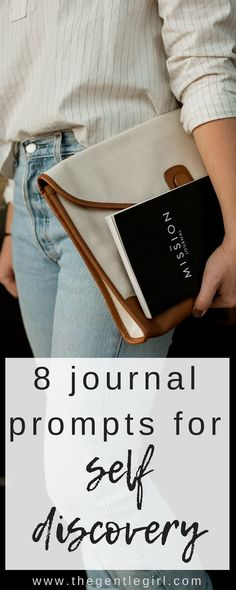 8 journal prompts that help you discover who you are. These soul searching questions are exactly what you need to help you define yourself. Mental Health Help, Mental Health Journal, Discovery Quotes, Self Discovery, Journal Prompts, Writing Prompts, Self Development, Personal Development