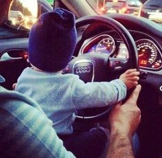 #Audi #Love #cute #kid #driving