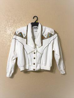vintage City Girl Sport Jacket. stud embellished jacket.