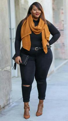 43 Cute Plus Size Winter Fashion Ideas Femmes rondes Plus Size Winter Outfits, Plus Size Fall Outfit, Plus Size Fashion For Women, Curvy Women Fashion, Plus Size Outfits, Trendy Fashion, Plus Size Women, Winter Fashion, Plus Fashion