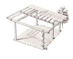 covered pergola plans 12x20' build diy outside patio wood design ... - Patio Roof Designs Plans