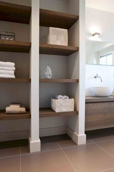 Hottest No Cost rustic Bathroom Storage Ideas Immediately after wise bathroom storage thoughts? Bathroom storage is required for holding a bath ro Rustic Bathroom Shelves, Rustic Bathroom Designs, Bathroom Storage Shelves, Rustic Bathrooms, Rustic Shelves, Bathroom Organization, Towel Storage, Shower Designs, Pantry Storage