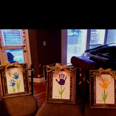 Made these for grandma for an early mothers day gift from the three kiddos. Now she can swap out the winter decor for spring. She likes rustic outdoorsy themes.