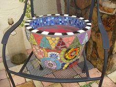 Big Mosaic Flower Pot   Flickr - Photo Sharing!