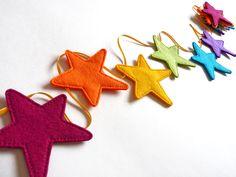 Felt Multi Coloured Star Bunting