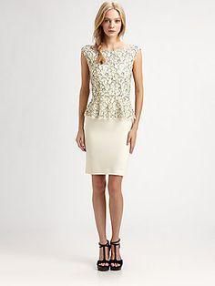 @Alice Cartee + olivia Lace Peplum Dress