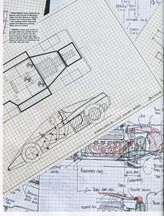McLaren F1 - blueprint engine