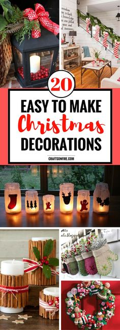 Are you excited for Christmas? I sure am! If you're looking for the best ways to decorate your home this year, then you have to check out these AMAZING diy christmas decorations. So IN LOVE with them. I can't wait to get cracking!