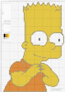 Dibujos Punto de Cruz Gratis: Los Simpson