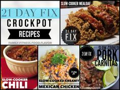 21 Day Fix collection of crockpot / slow-cooker recipes!  Family.Fitness.Food.Flavor.